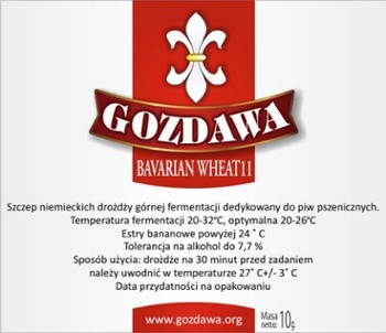 Gozdawa drożdże do piwa BAVARIAN WHEAT 10g