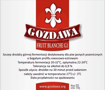 Gozdawa drożdże do piwa FRUIT BLANCHE 10g