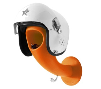 Wieszak na kask CRAZY HEAD Matt L Orange