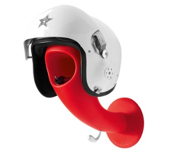 Wieszak na kask CRAZY HEAD Matt Red