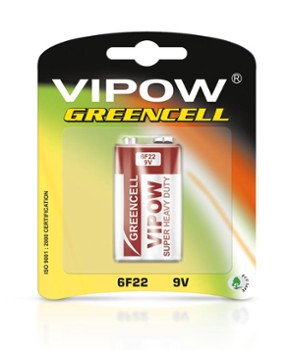 Baterie VIPOW GREENCEL 9V blister