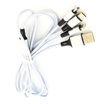 Kabel 3w1 DO IPHONE MICRO USB TYP-C