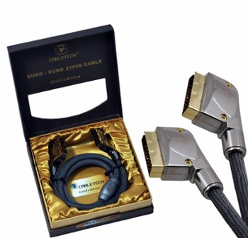 Kabel Euro-Euro 21pin 1,8m Gold Edition