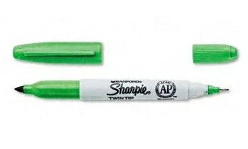 Marker Sanford SHARPIE TWIN-TIP zielony