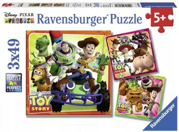 RAVENSBURGER puzzle 3x49 Toy Story
