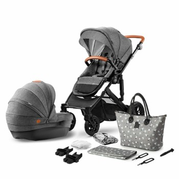 KINDERKRAFT prime 2w1 grey + mommy bag