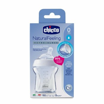CHICCO butelka szklana 150 ml. natural