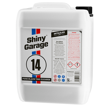SHINY GARAGE 14 Pure Black Tire Cleaner 5l Preparat do Czyszczenia Opon i Gum