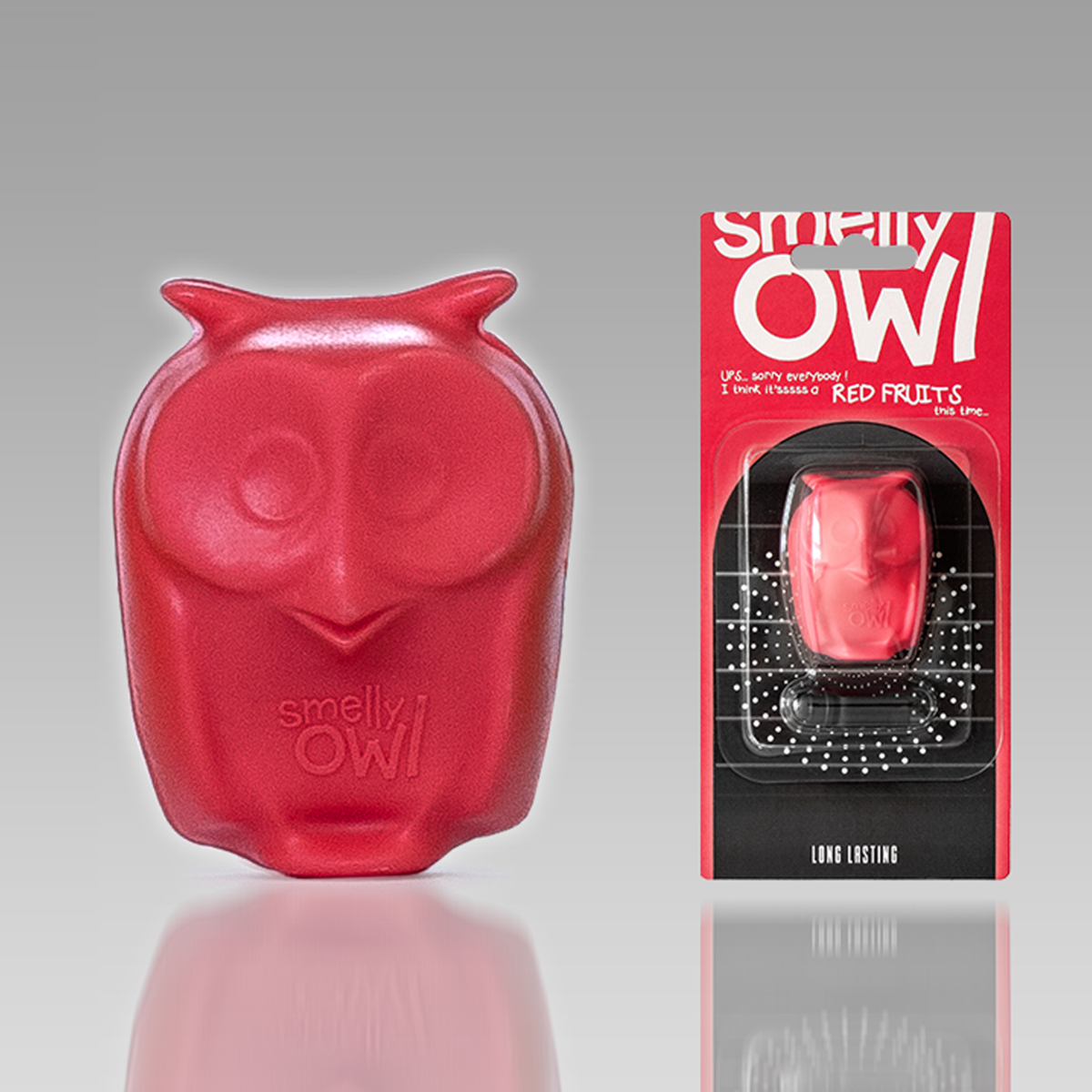 READYSTEADY Smelly Owl Red Fruits Zapachowe Sówki 3D