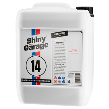 SHINY GARAGE 14 Back2Black Polymer Tire Dressing 5l Dressing do Opon z Kwarcem