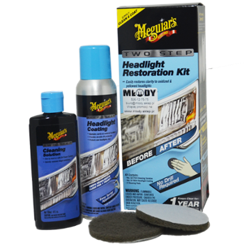 Meguiar's Perfect Clarity 2-Step Headlight Kit Zestaw do Renowacji Reflektorów