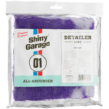 SHINY GARAGE All Arounder Edgless Microfiber 380/40x40cm Mikrofibra Bezszwowa Fioletowa