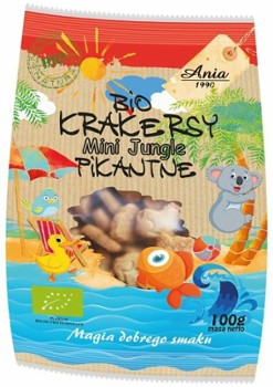 Krakersy mini jungle pikantne 100 g Bio