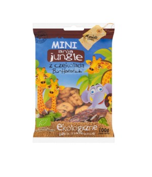 Herbatniki mini jungle z czekoladą 100 g