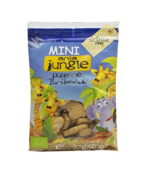 Herbatniki mini jungle pszenne 100 g Bio