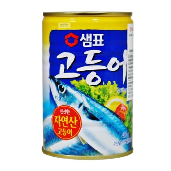Mackerel in a can of 400g 고등어 통조림