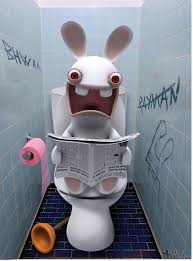RAVING RABBIDS POSTER WC