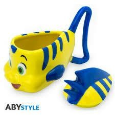 DISNEY MUG 3D FLOUNDER THE LITTLE MERMAI