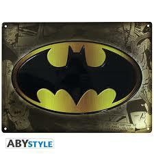 DC COMICS PLAQUE METAL BATMAN