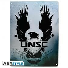 HALO PLAQUE METAL UNSC