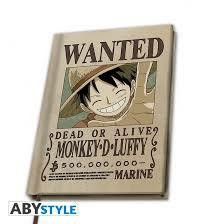 ONE PIECE CAHIER A5 WANTED LUFFY