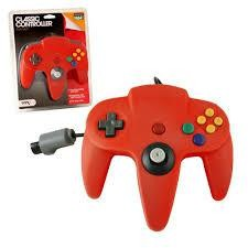 N64 CLASSIC CONTROLLER RED