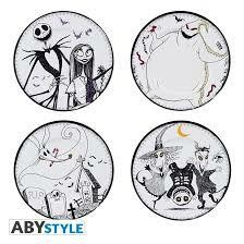 NIGHTMARE BEFORE XMAS SET DE 4 ASSIETTES