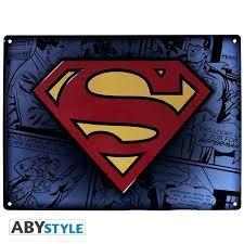 DC COMICS PLAQUE METAL SUPERMAN