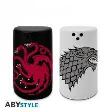 GAME OF THRONES SALT PEPPER SHAKERS STAR