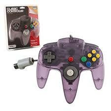 N64 CLASSIC CONTR CLEAR PURPLE