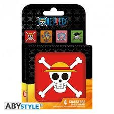 ONE PIECE SET 4 COASTERS SKULLS