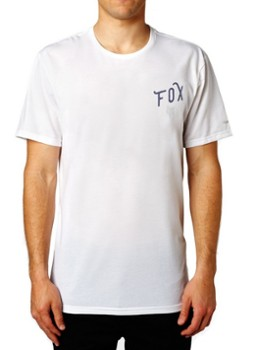 T SHIRT FOX CURRENTLY OPTIC WHITE