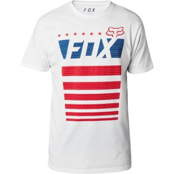 T SHIRT FOX RED,WHITE AND TRUE TECH