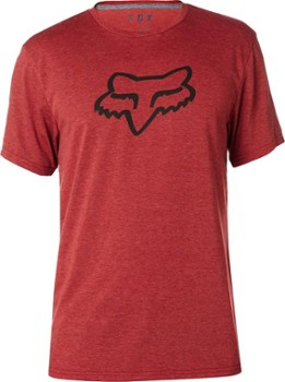 T-SHIRT FOX TOURNAMENT TECH HEATHER RED
