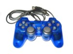 Ak62A Pad Do Pc Dual Shock Blue Transp.