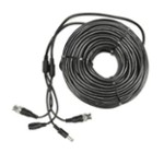 Kabel do kamer monitoringu 30m BNC+DC