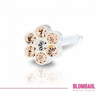 12-0114-75 Daisy golden rose/crystal 5mm
