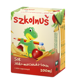 Sok SZKOLNUŚ jab-march-ban. 200ml /21/