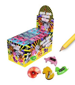 Animal Pencil Sharpener z cukierkiem 2g