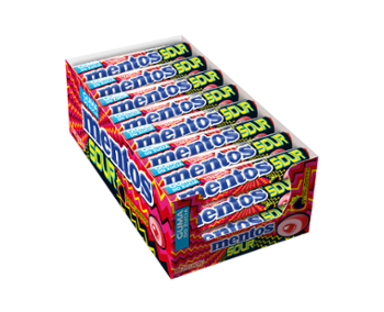 Mentos GumSour Strawberry kwaśne 15,5g