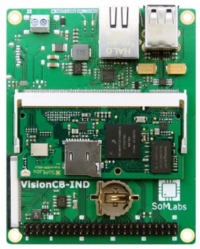 SoMLabs VisionCB-6ULL-IND-HDMI Carrier Board
