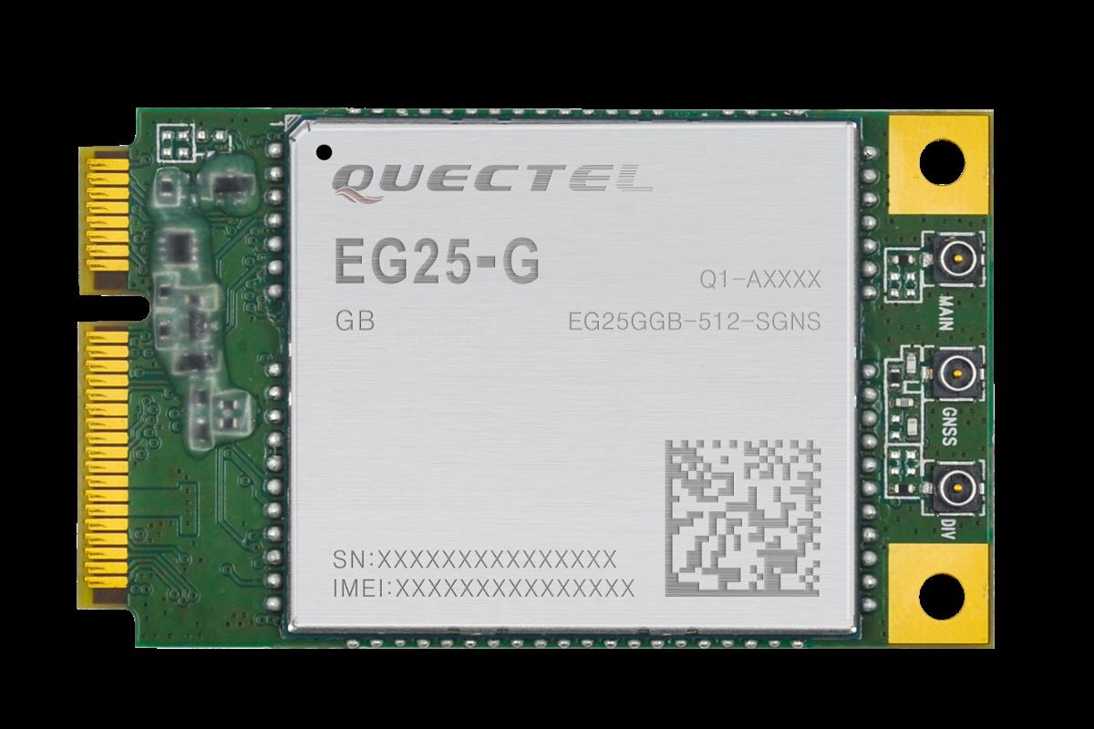 a403108b0945c3 EG25-G to moduł transmisyjny firmy Quectel, umieszczony na płytce PCB,  wyposażonej w złącze miniPCIe. Produkt ten spełnia standard LTE kategorii 4.