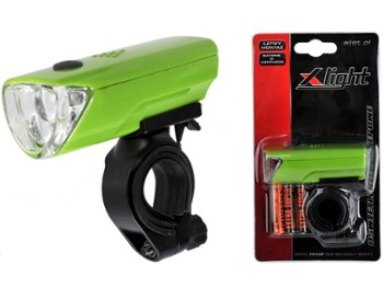 Lampka przód X-Light XC-104A 3 LED green