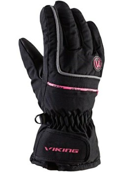 Rękawice Viking Kevin 6 black with pink