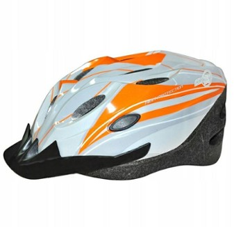 Kask Axer Cooper 56-58cm M orange grey