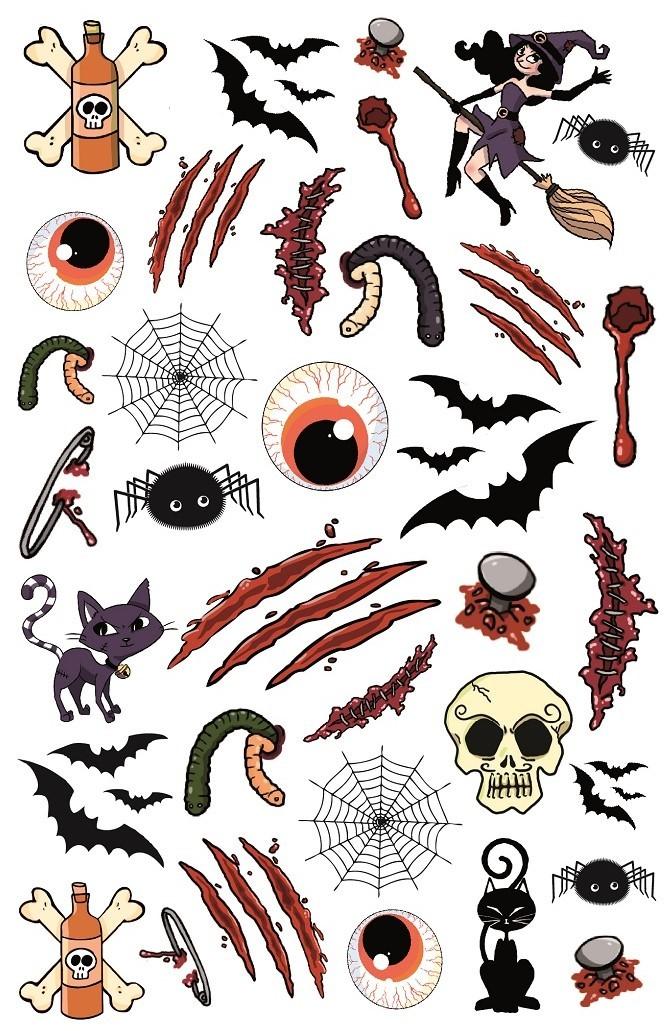 Tatuaże Zmywalne Motywy Halloweenowe Stepp