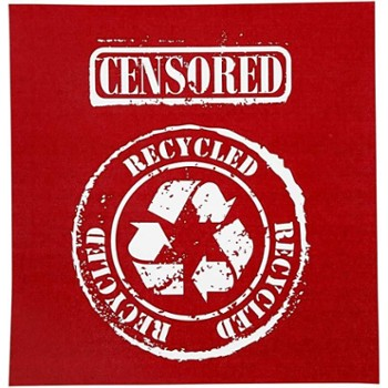 Szablon Sitodruk CENSORED RECYCLED 22x21