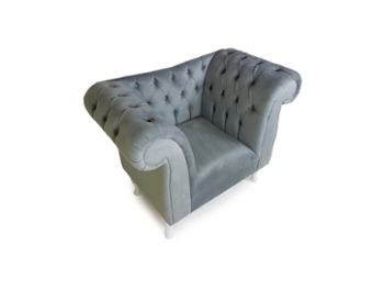 Fotel Chesterfield 1 osobowy Grey