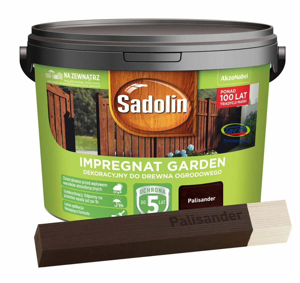 Sadolin Garden Impregnat Dekoracyjny Do Drewna Ogrodowego 9l Palisander
