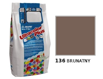 MAPEI Fuga Ultracolor Plus 136 BRUNATNY 2 kg!!!